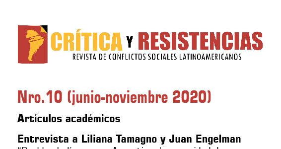 Publicación del N° 10 de Crítica y Resistencias (ISSN: 2525-0841)